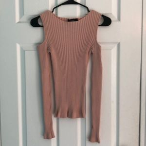 Forever 21 Size Small Light Pink Long Sleeve Top